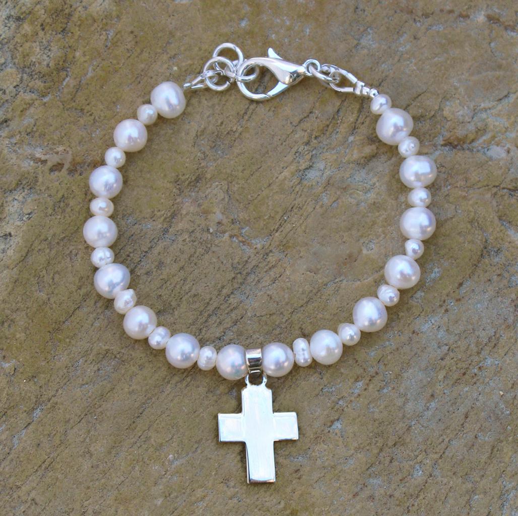 Pulseras de perlas para comunion